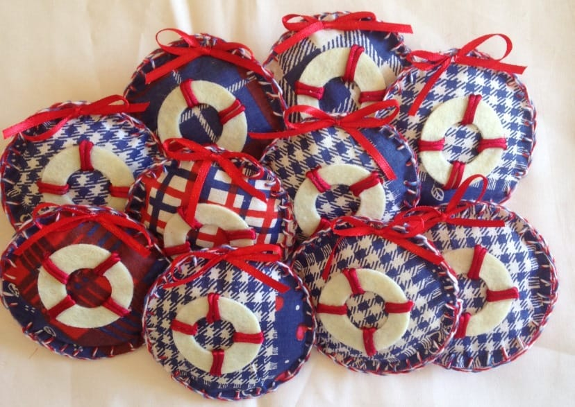 Nautical Brooches for a Nautical Birthday party