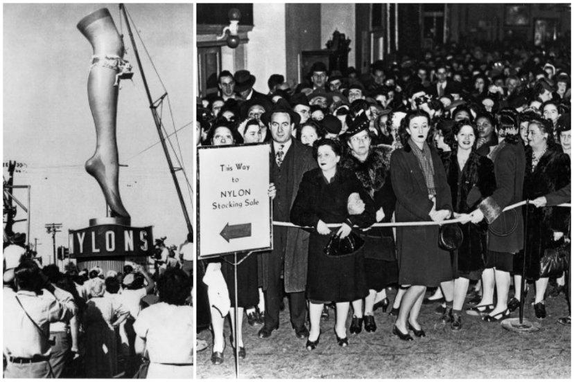 Οι λεγόμενες εξεγέρσεις του νάιλον που συνέβησαν στην Αμερική το 1945-1946,με τη λήξη του πολέμου. photo credits: Hagley Museum and Library